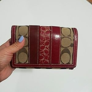 Coach Red medium sized wallet